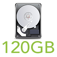 120GB HDD