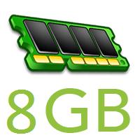8GB RAM LOGO